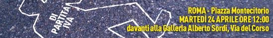 Banner manifestazione di Roma