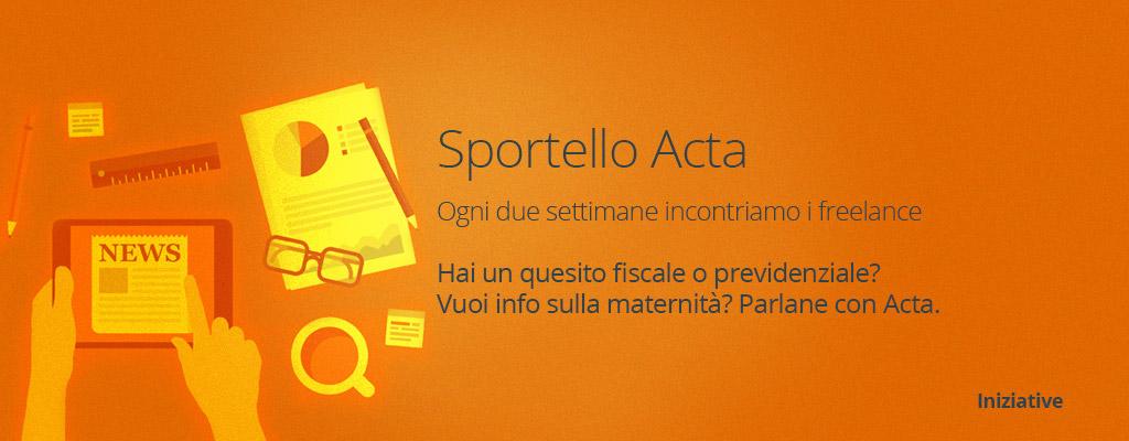 Riparte lo Sportello Acta, ecco le date