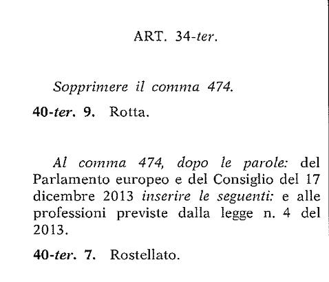 emendamenti rostellato rotta (actainrete)