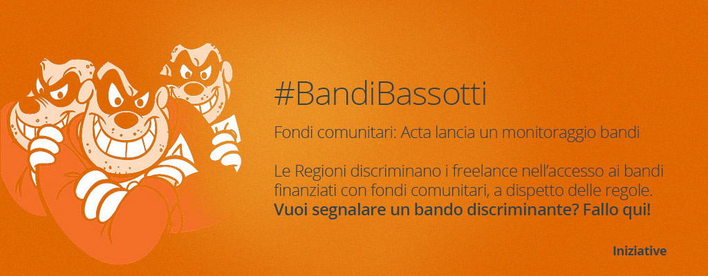 denuncia con acta i #bandibassotti