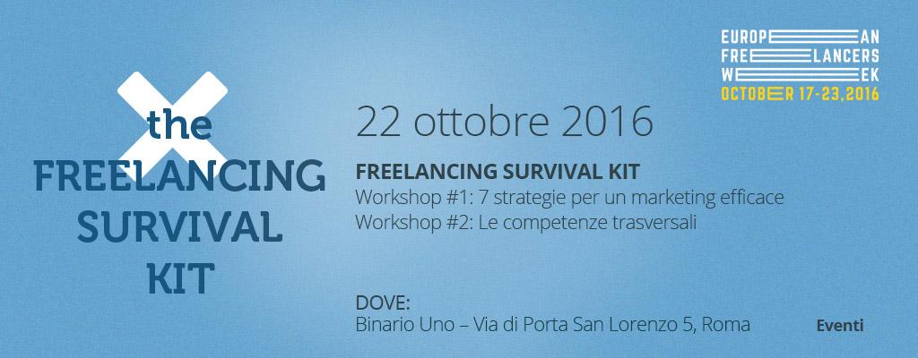 Freelancing Survival Kit: 2 workshop a Roma per la #EFW16