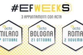 European Freelancers Week 2021 - gli eventi di Acta a Roma, Milano, Bologna